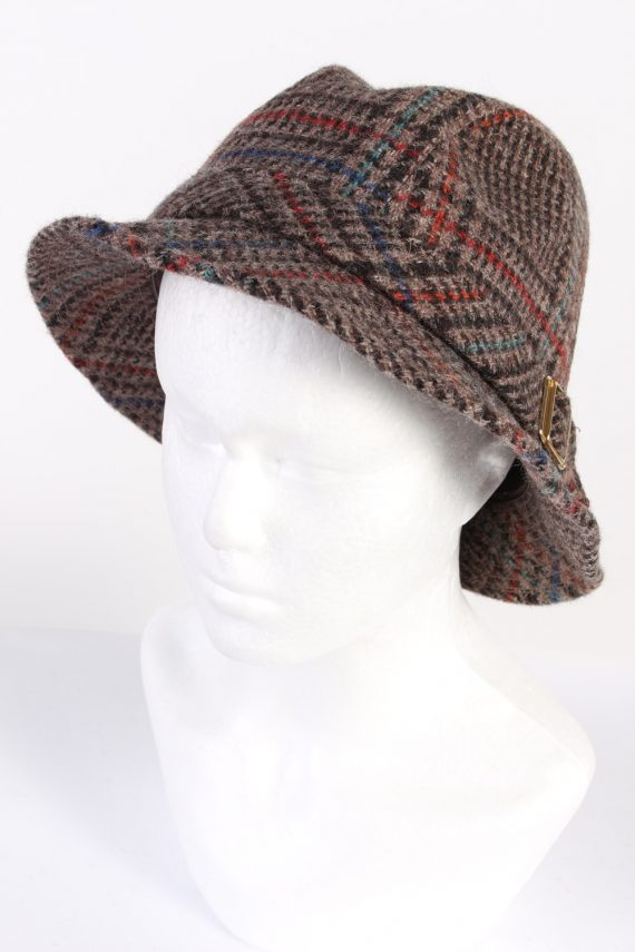 Vintage Angelo Litrico 1980s Fashion Trilby Hat Multi HAT644-0