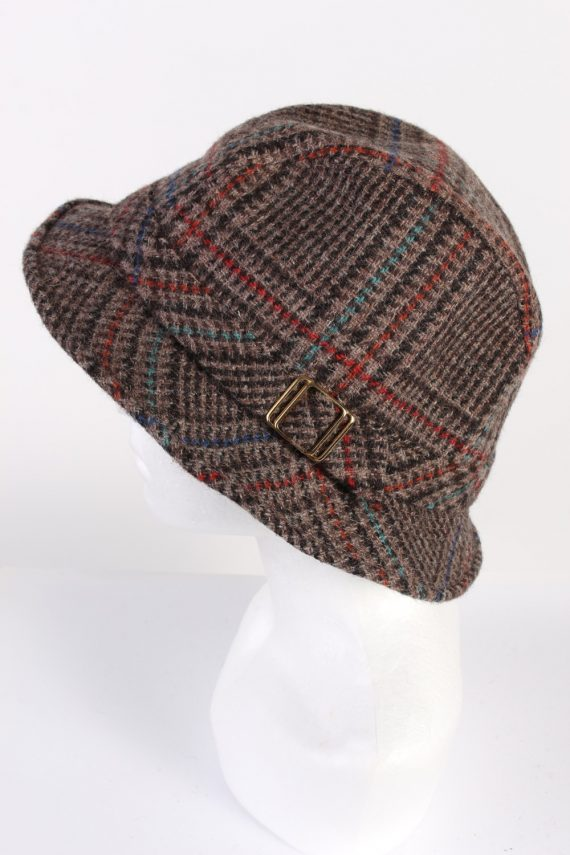 Vintage Angelo Litrico 1980s Fashion Trilby Hat Multi HAT644-120067