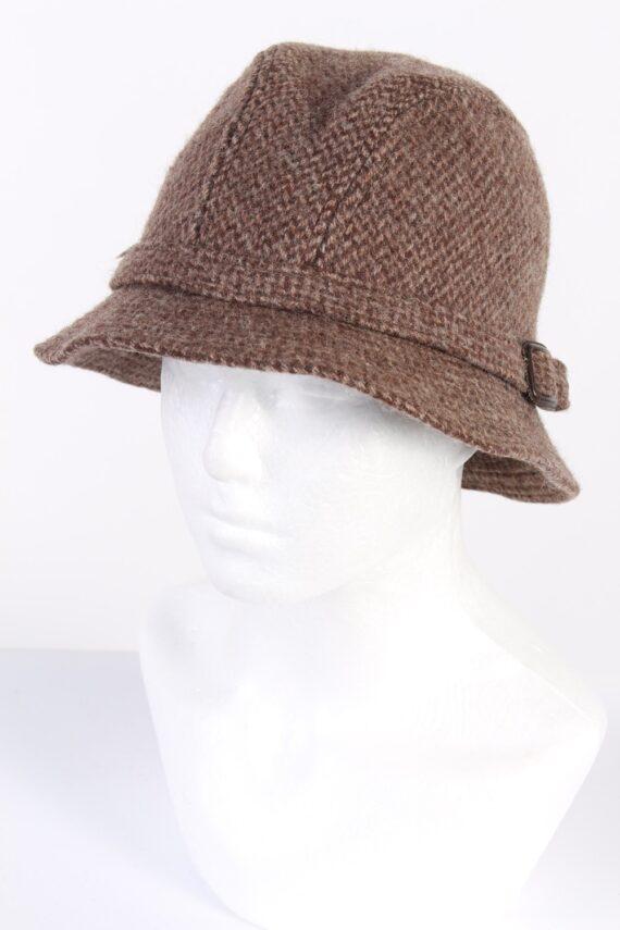 Vintage CTH 1990s Fashion Winter Hat Brown HAT691-0