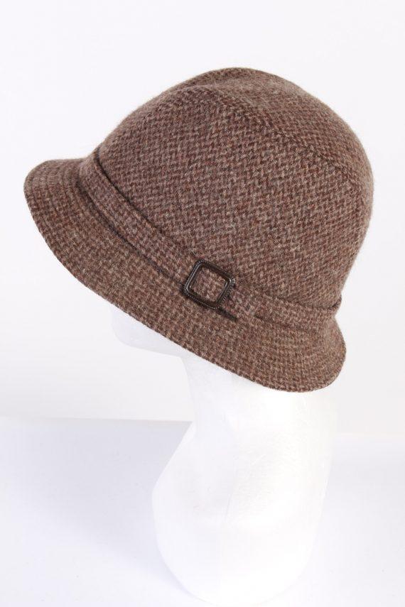Vintage CTH 1990s Fashion Winter Hat Brown HAT691-120258