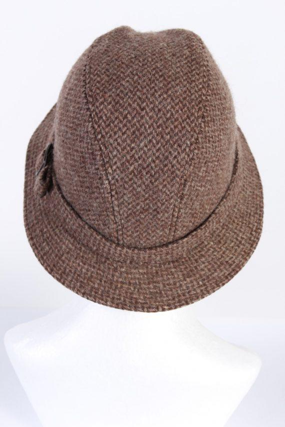 Vintage CTH 1990s Fashion Winter Hat Brown HAT691-120259