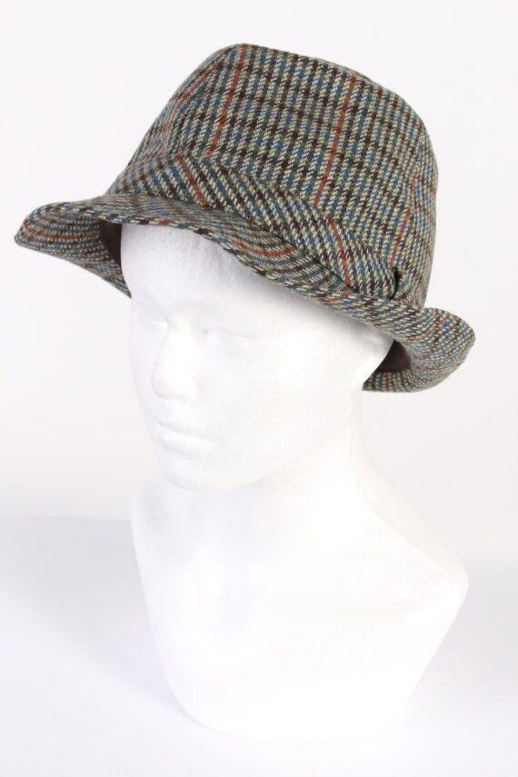 Vintage Wegener 1980s Fashion Trilby Hat Multi HAT701-0