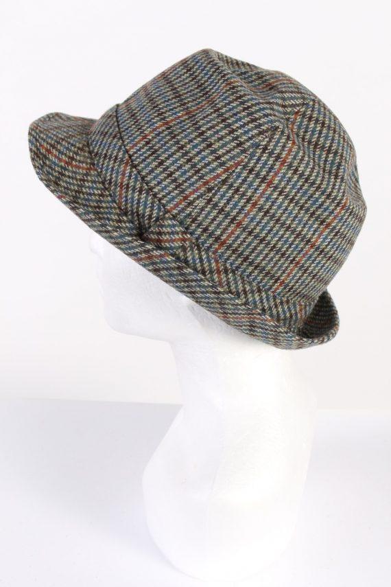 Vintage Wegener 1980s Fashion Trilby Hat Multi HAT701-120298