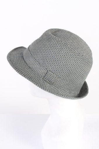 Vintage C&A Canda 1980s Fashion Felt Trilby Hat Multi HAT736-120433
