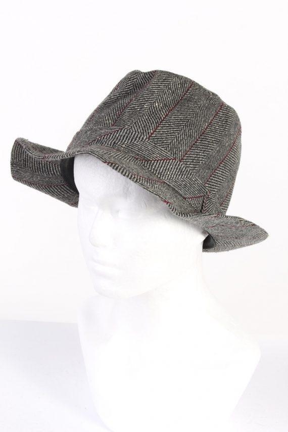 Vintage C&A Canda 1980s Fashion Trilby Hat Grey HAT742-120456