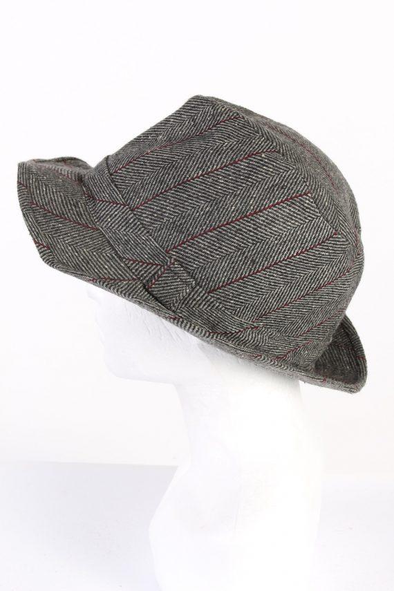 Vintage C&A Canda 1980s Fashion Trilby Hat Grey HAT742-120465