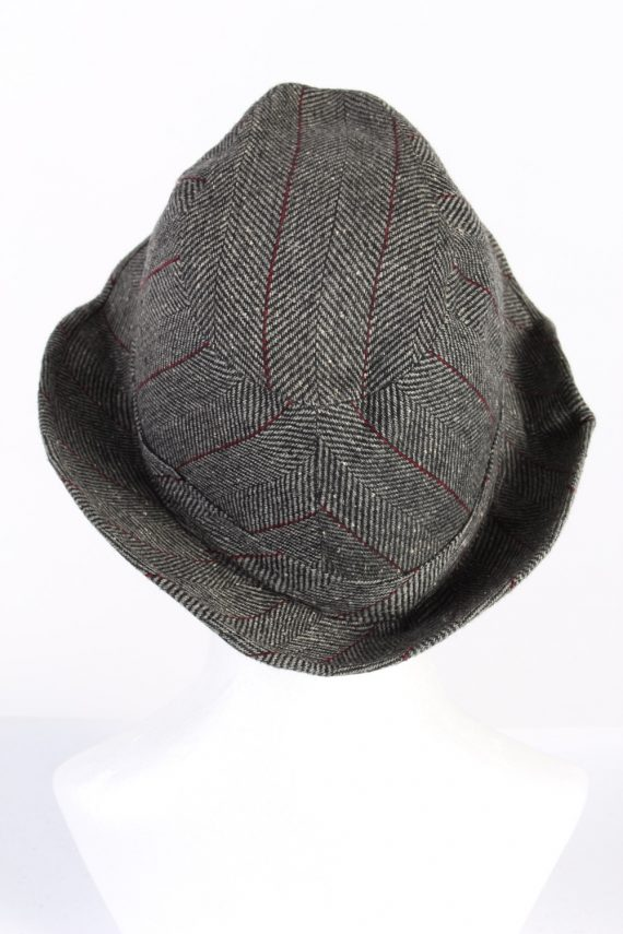 Vintage C&A Canda 1980s Fashion Trilby Hat Grey HAT742-120458
