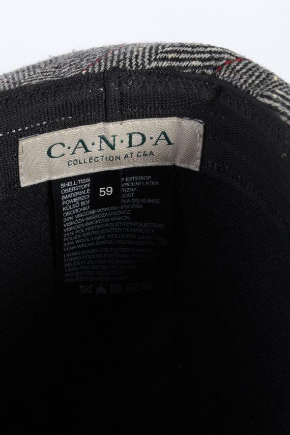 Vintage C&A Canda 1980s Fashion Trilby Hat Grey HAT742-120459