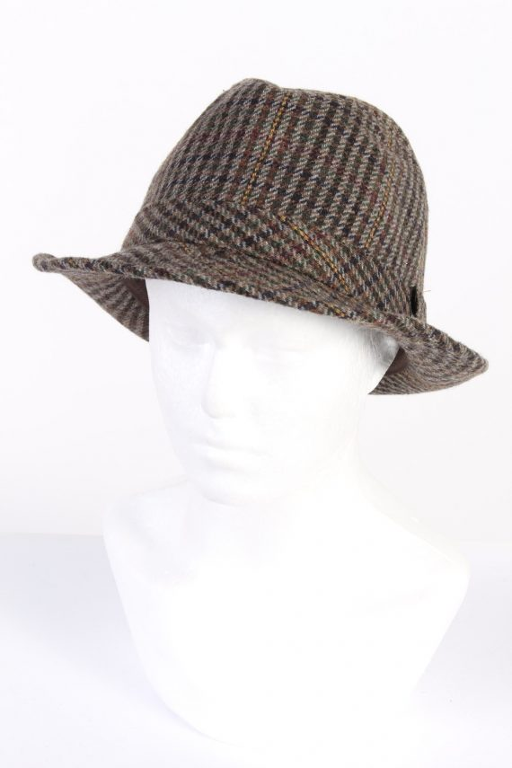 Vintage C&A Canda 1980s Fashion Trilby Hat Multi HAT761-0