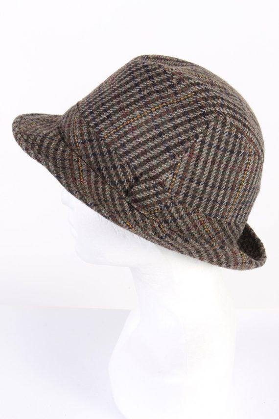 Vintage C&A Canda 1980s Fashion Trilby Hat Multi HAT761-120599