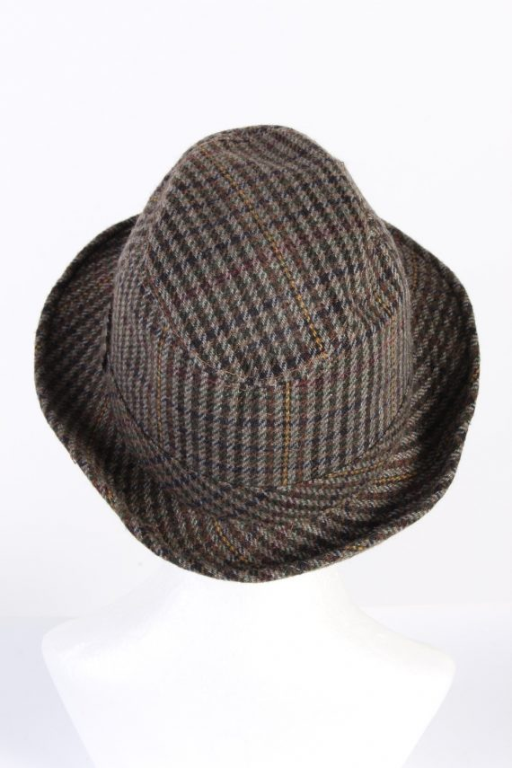Vintage C&A Canda 1980s Fashion Trilby Hat Multi HAT761-120600