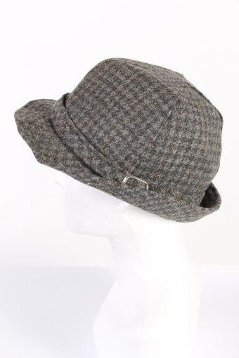Vintage 1980s Fashion Felt Trilby Hat Grey HAT763-120607