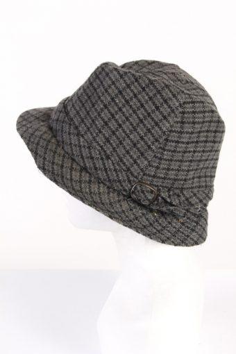 Vintage 1980s Fashion Felt Trilby Hat Grey HAT764-120613