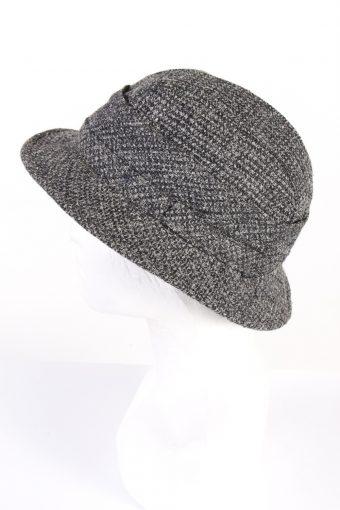 Vintage Angelo Litrico 1990s Fashion Winter Hat Grey HAT783-120628