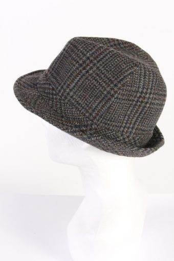 Vintage C&A Canda 1980s Fashion Trilby Hat Grey HAT788-120648