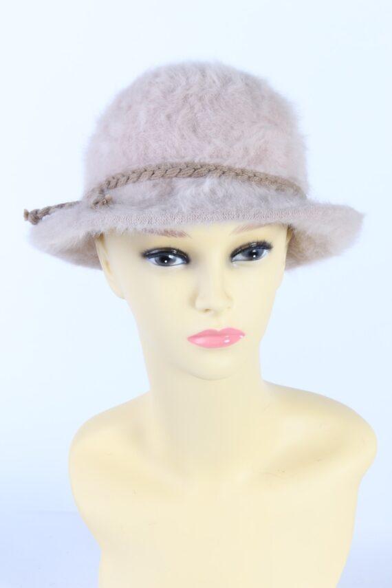 Vintage 1990s Fashion Trilby Winter Hat Light Pink HAT850-0