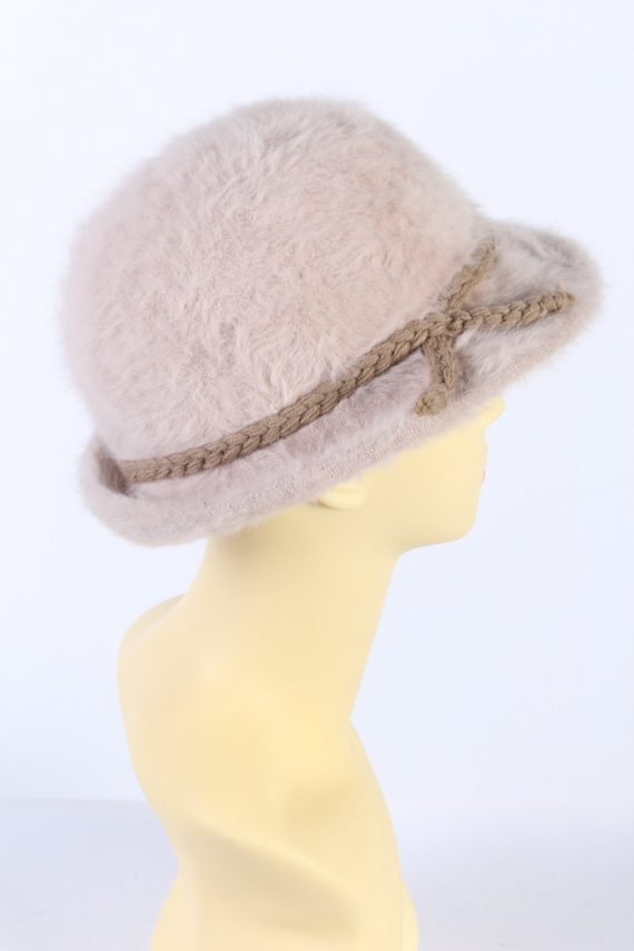 Vintage 1990s Fashion Trilby Winter Hat Light Pink HAT850-121248