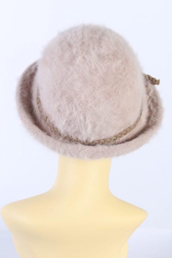 Vintage 1990s Fashion Trilby Winter Hat Light Pink HAT850-121249
