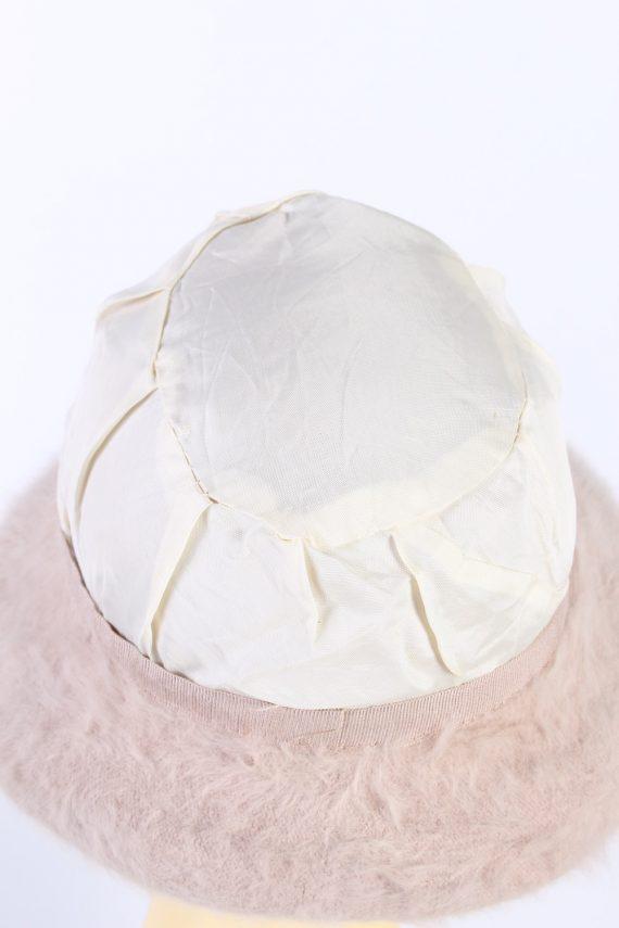 Vintage 1990s Fashion Trilby Winter Hat Light Pink HAT850-121250