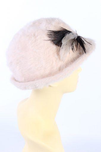Vintage 1990s Fashion Brimmed Winter Hat Light Pink HAT857-121220