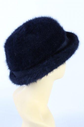 Vintage 1990s Fashion Brimmed Winter Hat Dark Blue HAT863-121196