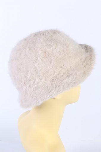 Vintage 1990s Fashion Brimmed Winter Hat Light Pink HAT866-121185