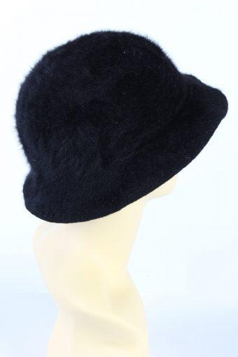 Vintage 1990s Fashion Brimmed Winter Hat Black HAT873-121387