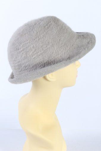 Vintage 1990s Fashion Brimmed Winter Hat Beige HAT878-121369