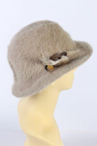 Vintage 1990s Fashion Brimmed Winter Hat Camel HAT883-121350