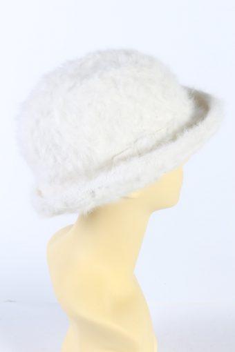 Vintage LL Modell 1990s Fashion Brimmed Winter Hat White HAT886-121338