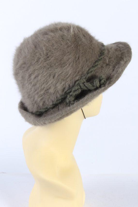 Vintage 1980s Fashion Trilby Winter Hat Khaki HAT890-121325
