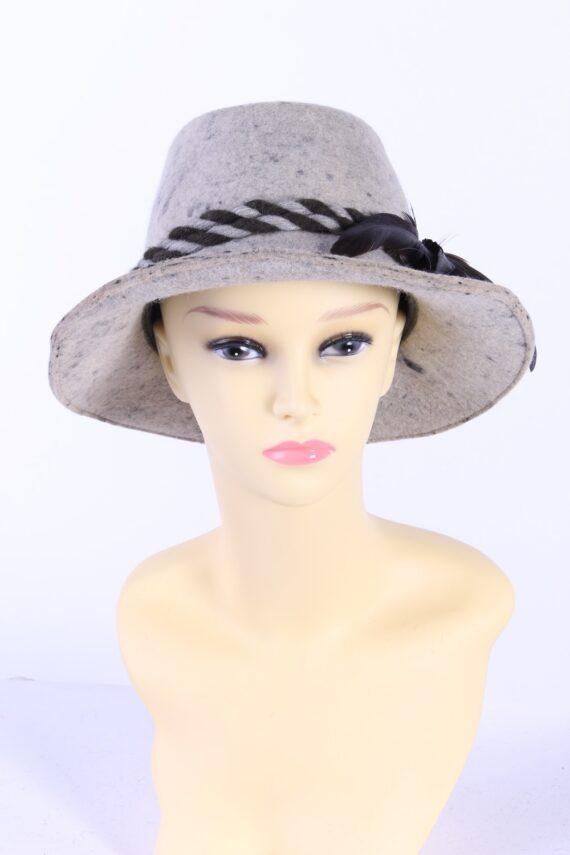 Vintage Faustmann 1970s Fashion Trilby Hat Multi HAT900-0