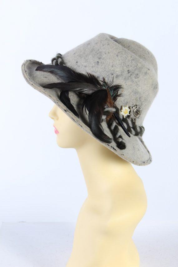 Vintage Faustmann 1970s Fashion Trilby Hat Multi HAT900-121503