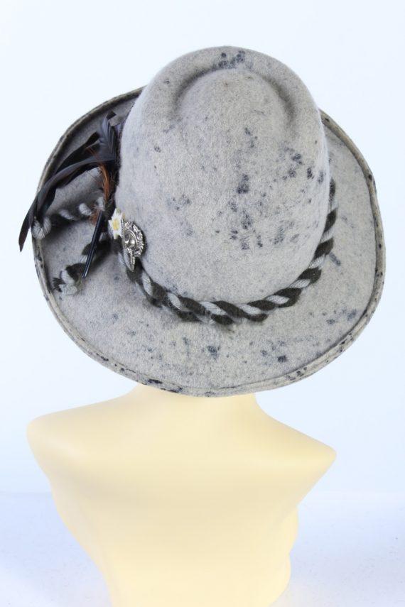 Vintage Faustmann 1970s Fashion Trilby Hat Multi HAT900-121504