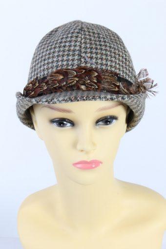 Vintage Tissus Dormeuil Paris Fashion Brimmed Hat