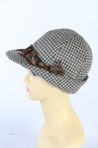 Vintage Tissus Dormeuil Paris 1980s Fashion Brimmed Hat Multi HAT916-121449