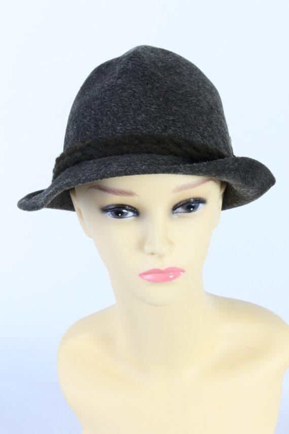 Vintage Hochland 1980s Fashion Brimmed Hat Green HAT927-0