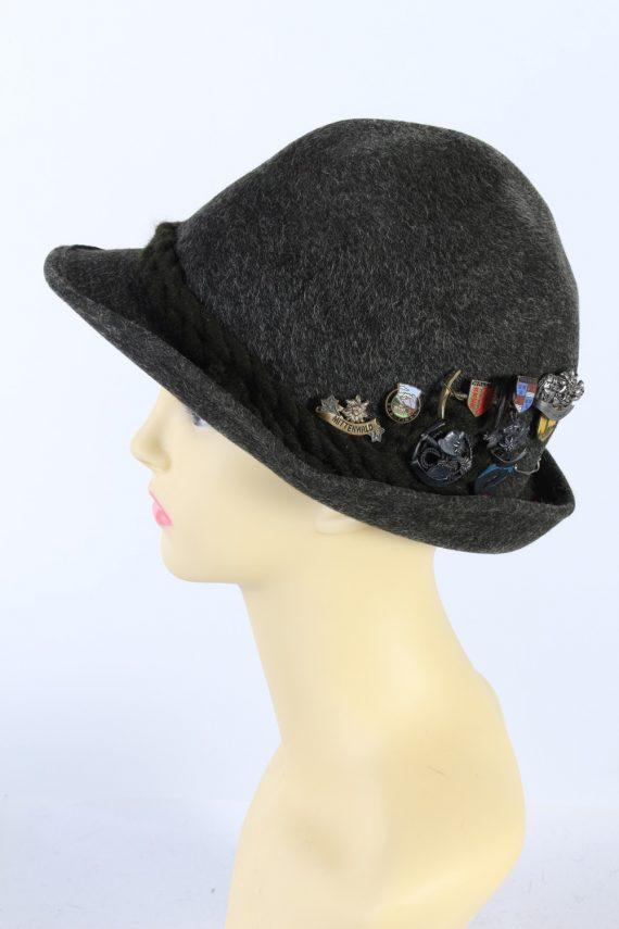 Vintage Hochland 1980s Fashion Brimmed Hat Green HAT927-121408
