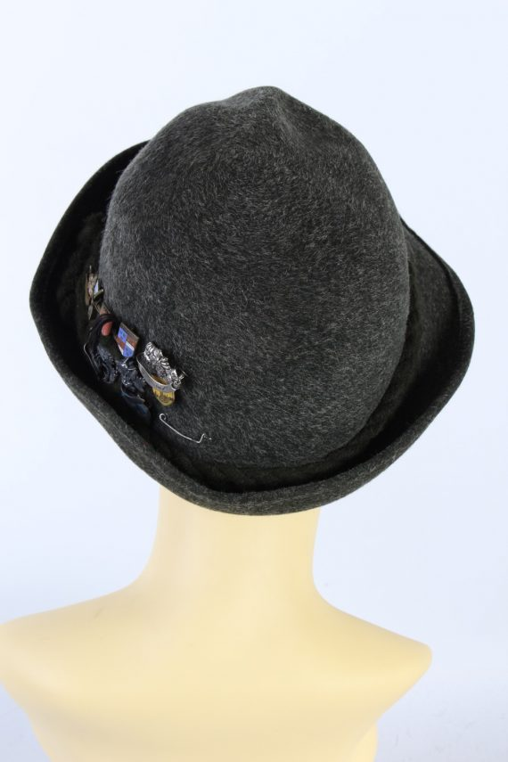 Vintage Hochland 1980s Fashion Brimmed Hat Green HAT927-121409