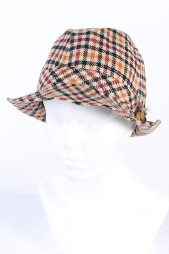 Vintage Fashion Lined Trilby Hat