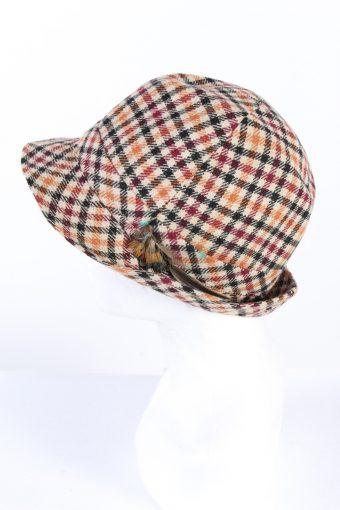 Vintage 1980s Fashion Lined Trilby Hat Multi HAT952-121644