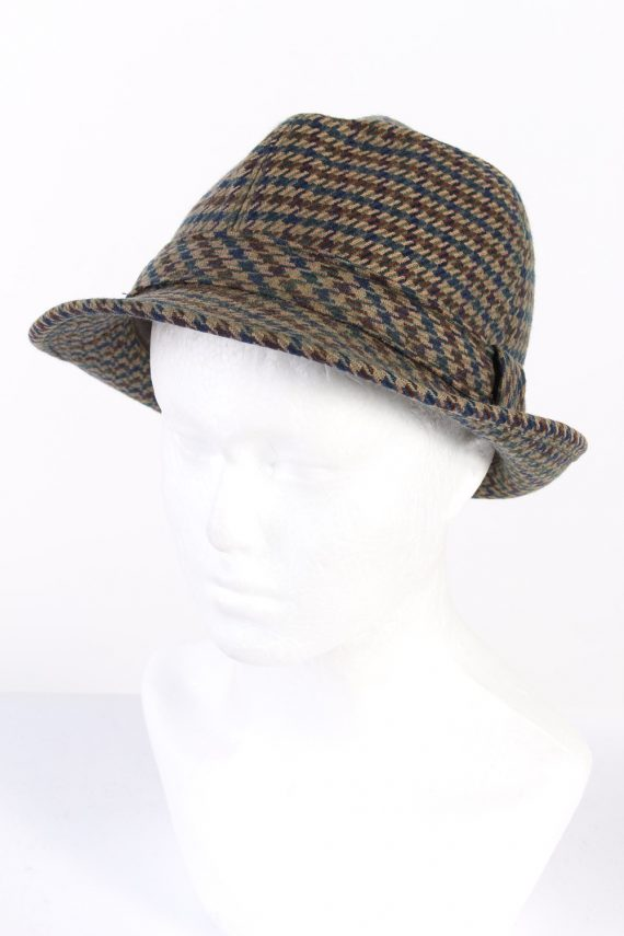 Vintage Henry Stanley 1980s Fashion Lined Trilby Hat Multi HAT954-0