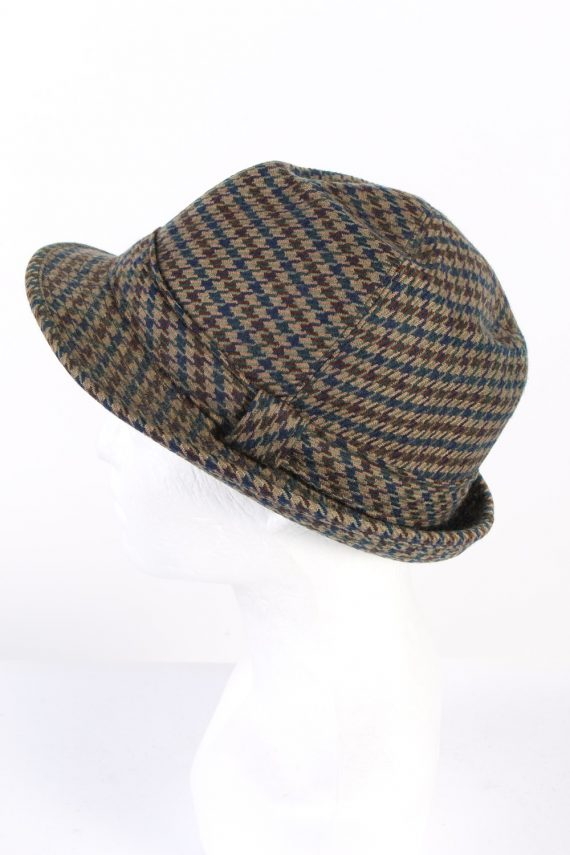 Vintage Henry Stanley 1980s Fashion Lined Trilby Hat Multi HAT954-121637