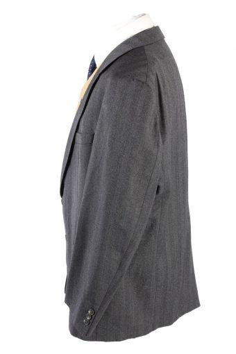 "Vintage Burberrys Classic Blazer Jacket Chest 48"" Grey HT2669-121530"