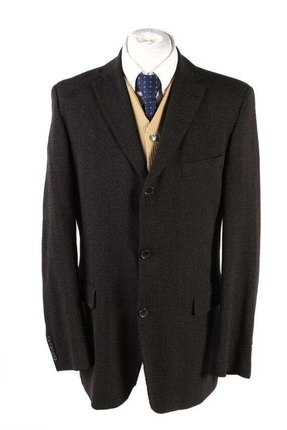 """Vintage Hugo Boss Classic Blazer Jacket Chest 42"""" Dark Brown HT2675-0"""