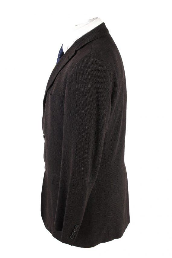 """Vintage Hugo Boss Classic Blazer Jacket Chest 42"""" Dark Brown HT2675-121554"""