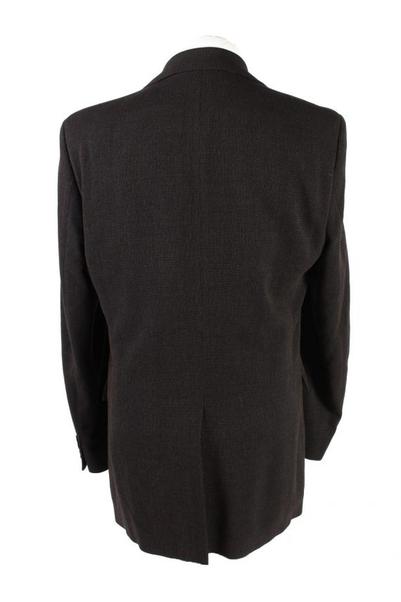 """Vintage Hugo Boss Classic Blazer Jacket Chest 42"""" Dark Brown HT2675-121555"""