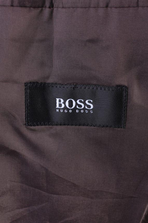 """Vintage Hugo Boss Classic Blazer Jacket Chest 42"""" Dark Brown HT2675-121556"""