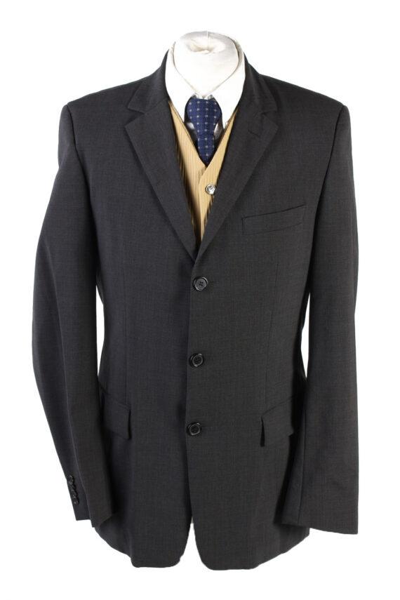 "Vintage Hugo Boss Classic Blazer Jacket Chest 42"" Dark Grey HT2677-0"