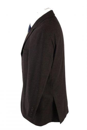 """Vintage Hugo Boss Classic Blazer Jacket Chest 44"""" Dark Brown HT2681-121578"""